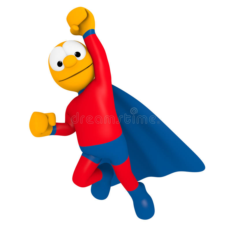 superhero royaltyfri illustrationer
