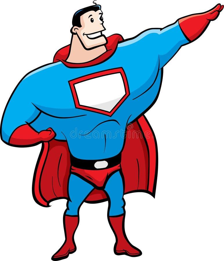 superhero royaltyfri bild