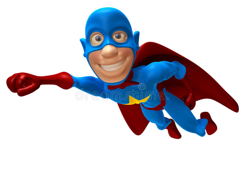 superhero stock illustrationer