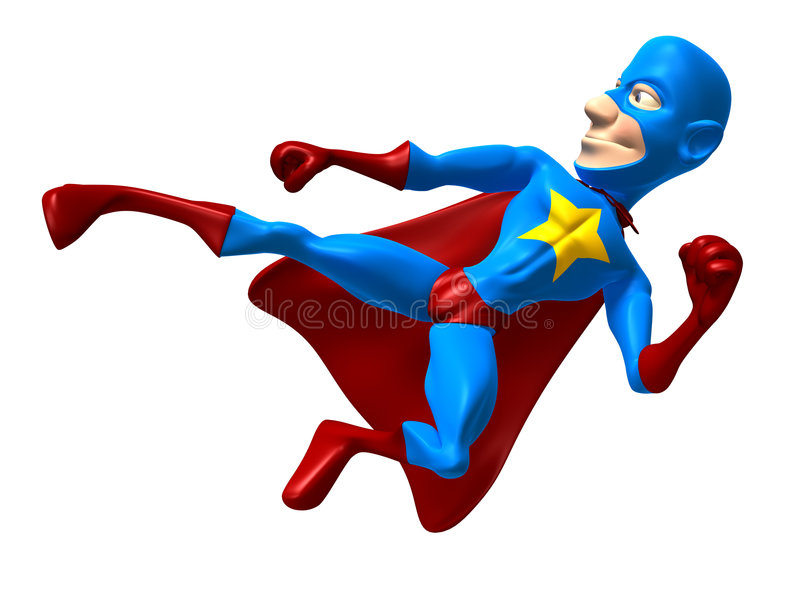 Superhero stock illustratie