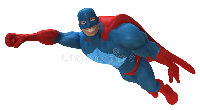 Superhero illustration libre de droits
