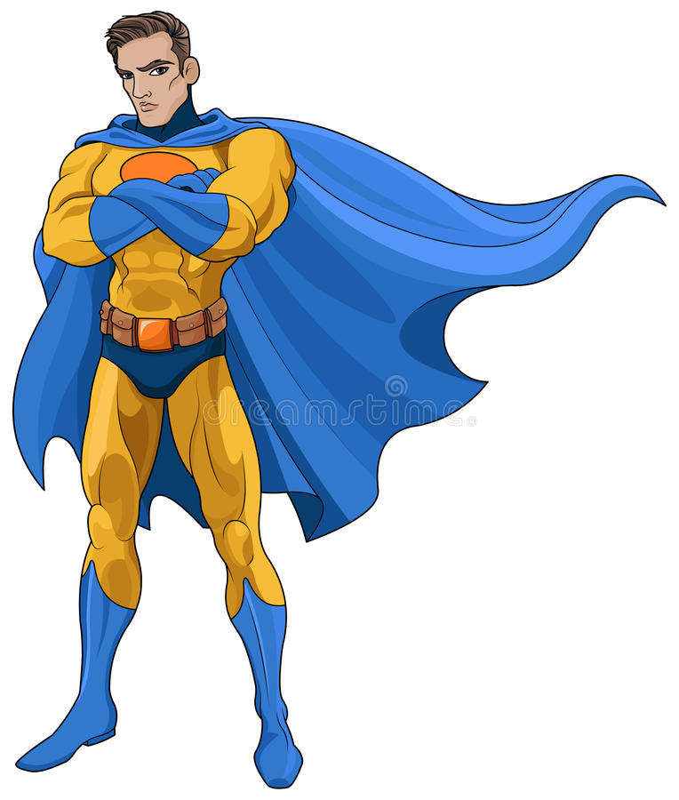 superhero ilustração royalty free