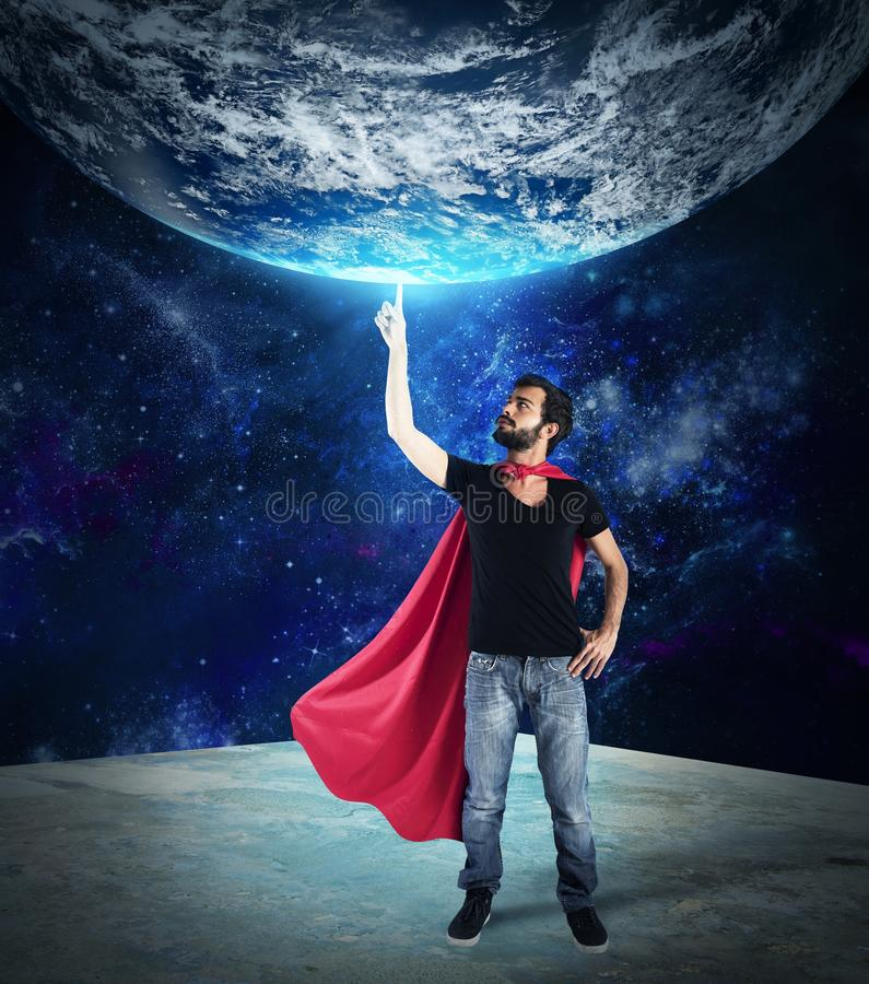 Superhero av världen royaltyfri foto