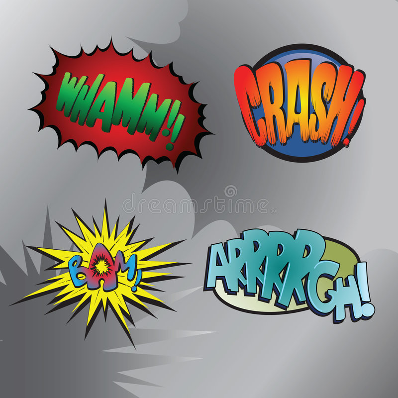 Superhero bashing #3 vector illustration