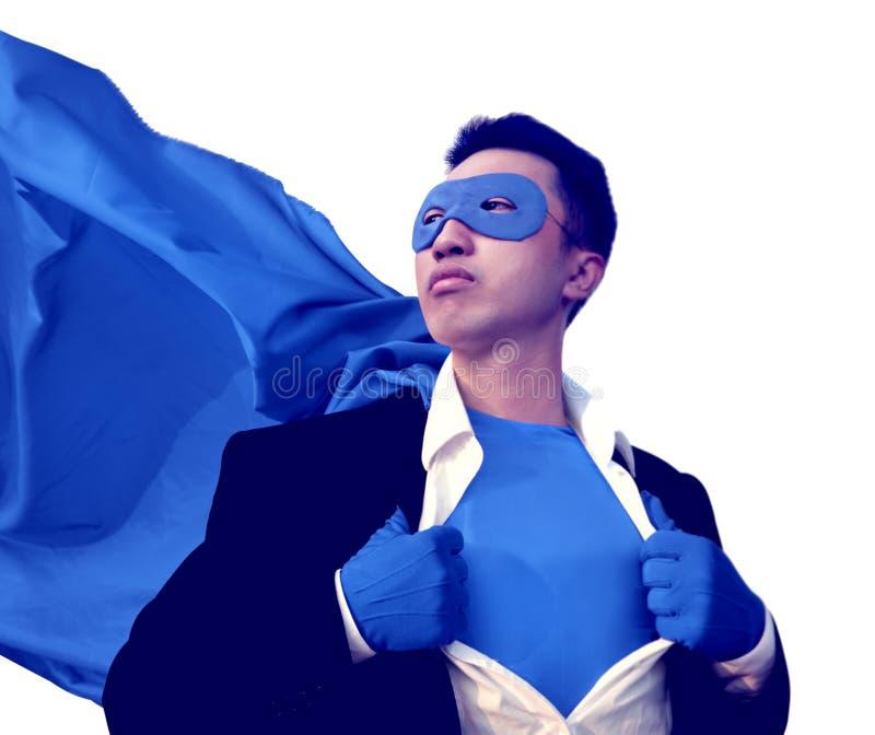 Superhero beschermt Sterke Victory Determination Fantasy Concept royalty-vrije stock foto