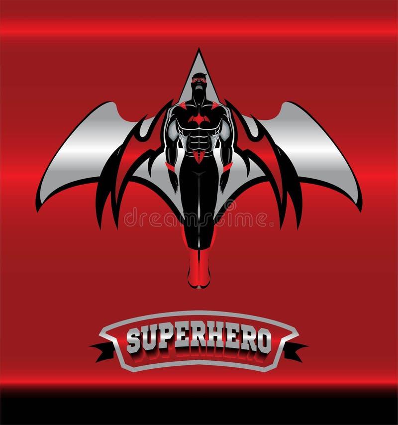 superhero Bevingad superhero Maskerad superhero stock illustrationer