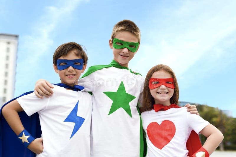 Superhero Boy Girl Brave Imagination Concept royalty free stock photos