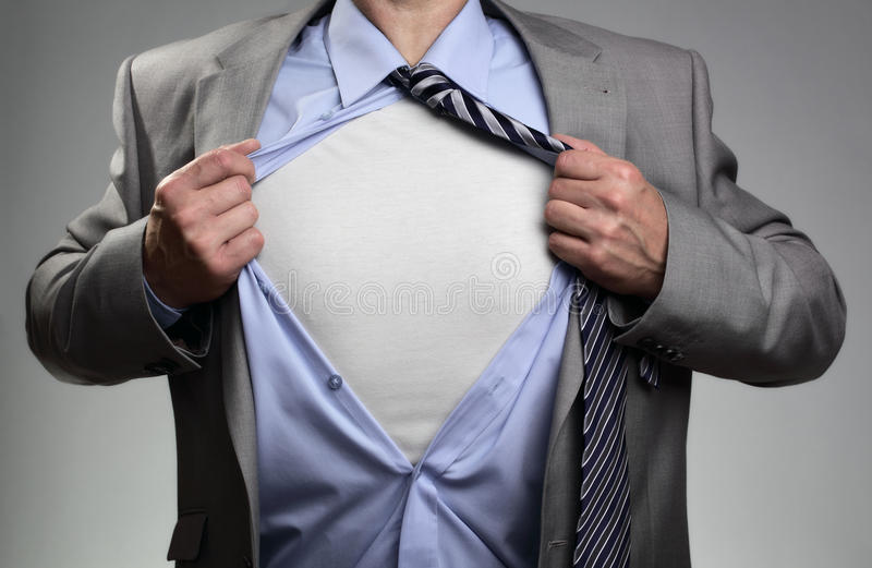 Superhero businessman stock photos