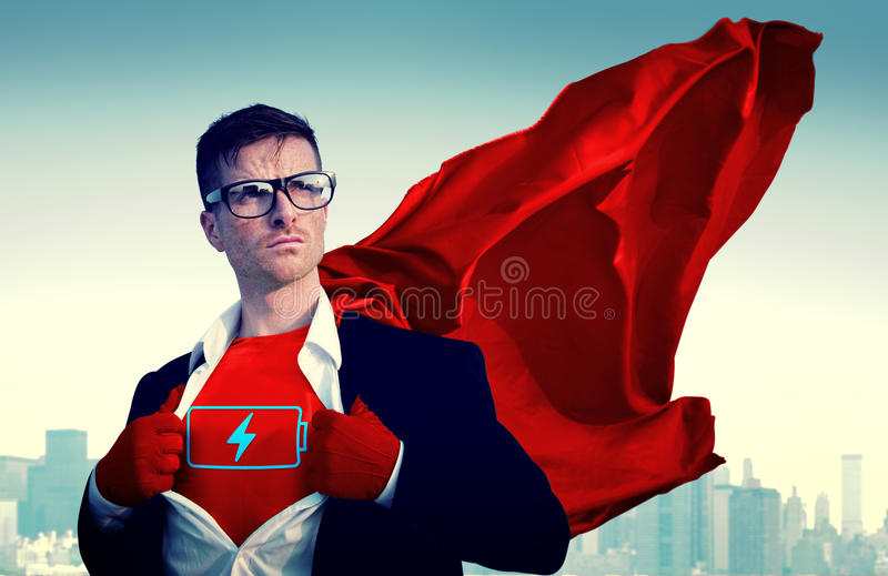 Superhero Businessman Vote Power Concept royalty free stock image