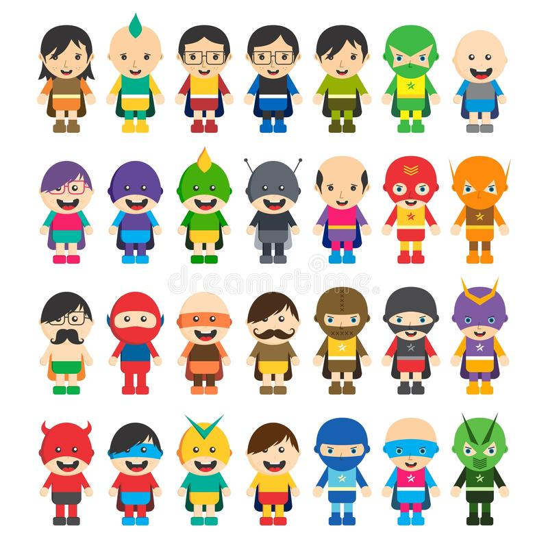 Superhero cartoon theme royalty free stock photo