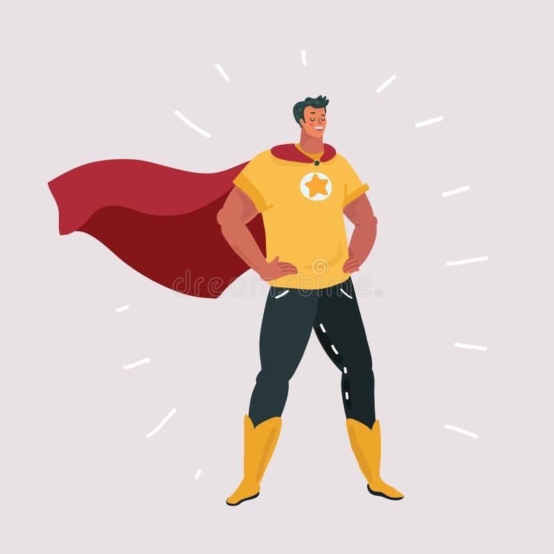 Superhero character cartoon vector illustration