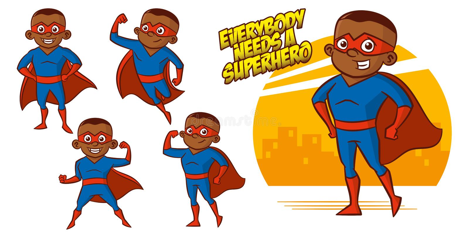 Superhero character Superheroes Set Vector illustration design. Superheroes Set Superhero character Vector illustration design royalty free illustration