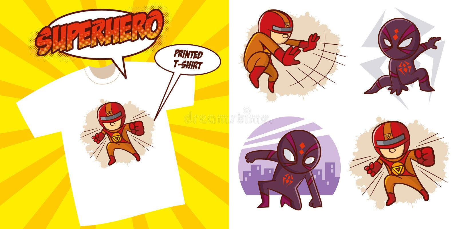 Superhero character Superheroes Set Vector illustration design. Superheroes Set Superhero character Vector illustration design for printed t-shirt vector illustration