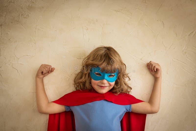 Superhero child stock image