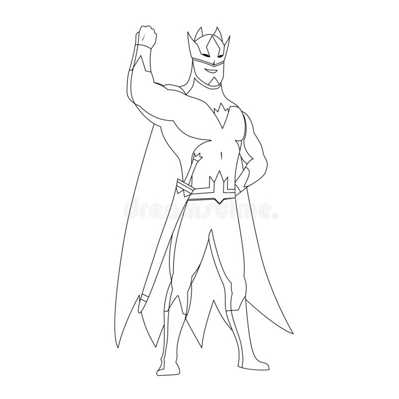 Superhero Coloring Book Stock Illustrations – 251 Superhero ...