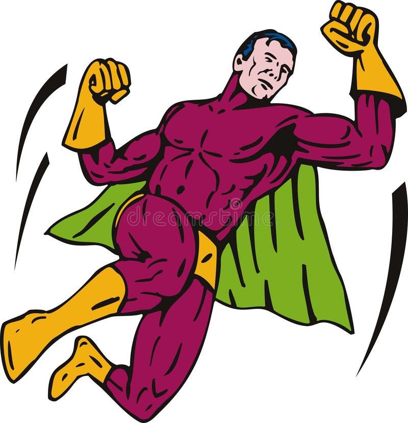 superhero de perforateur de vol illustration libre de droits