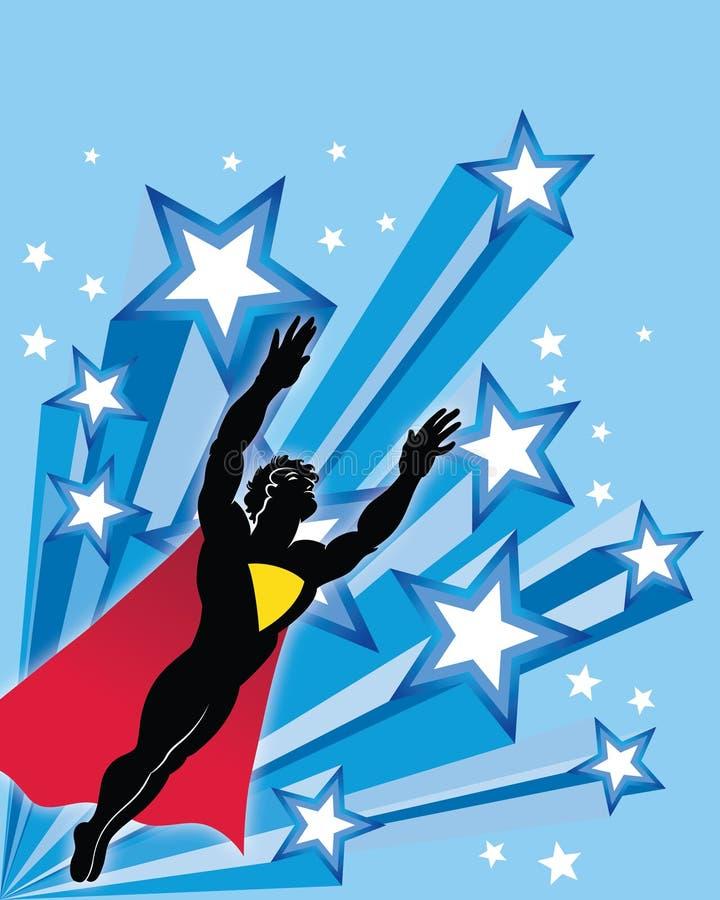 Superhero de vol illustration de vecteur