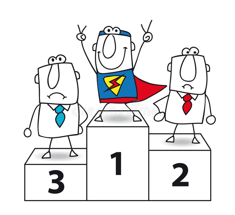 Superhero is de winnaar stock illustratie