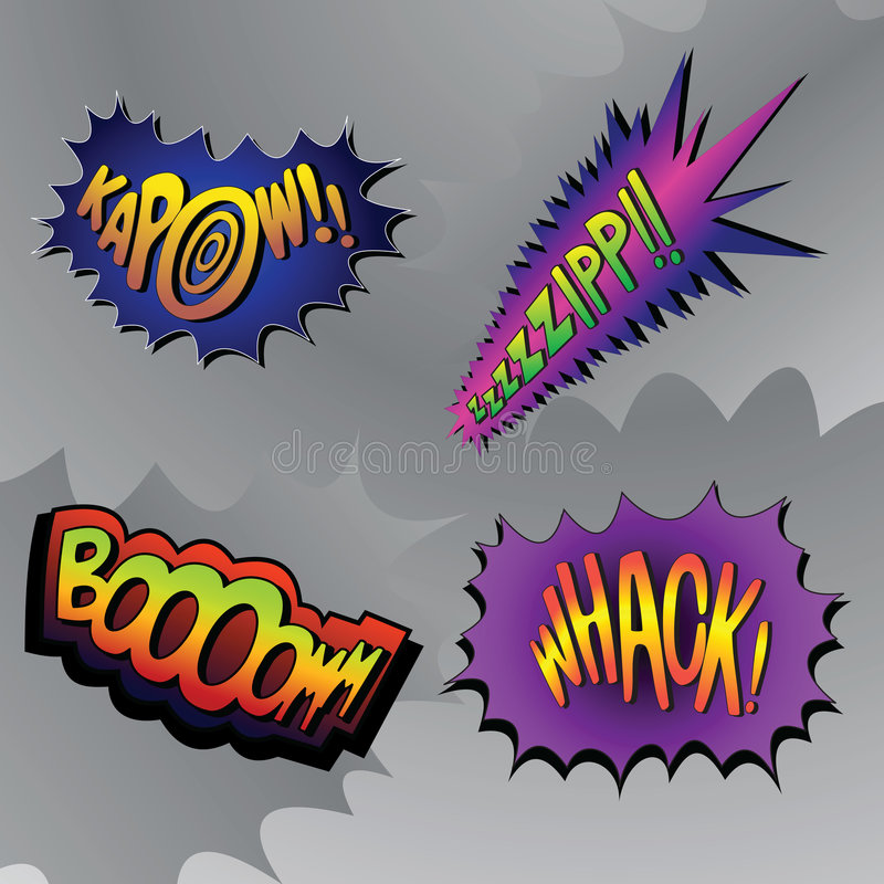 Superhero die #4 beukt vector illustratie