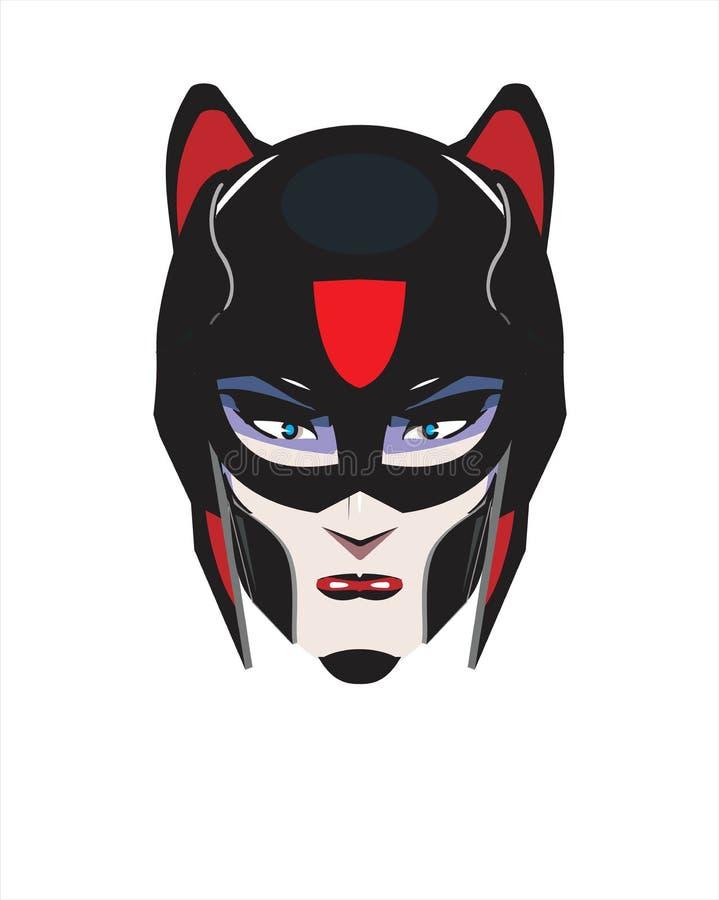 Superhero féminin illustration de vecteur