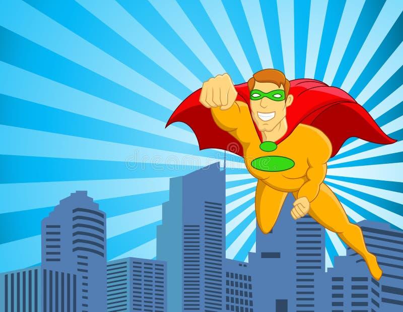 Download Superhero Flying Over City Stock Photo - Image: 23816150