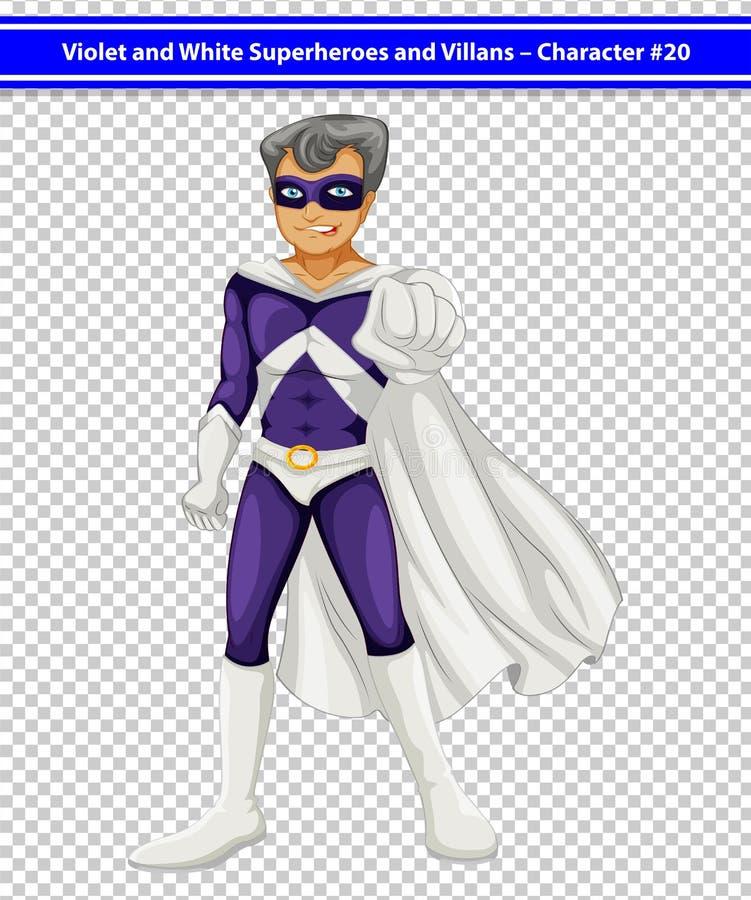 Superhero. Illustration of a male superhero royalty free illustration