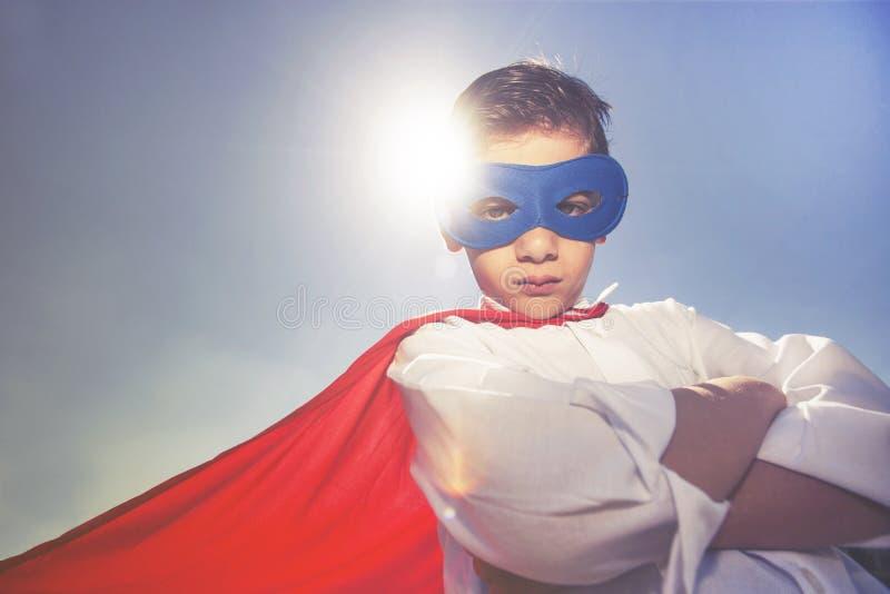 Superhero kid. Success concept stock image