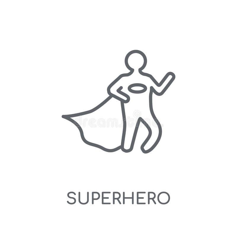 Superhero linear icon. Modern outline Superhero logo concept on vector illustration