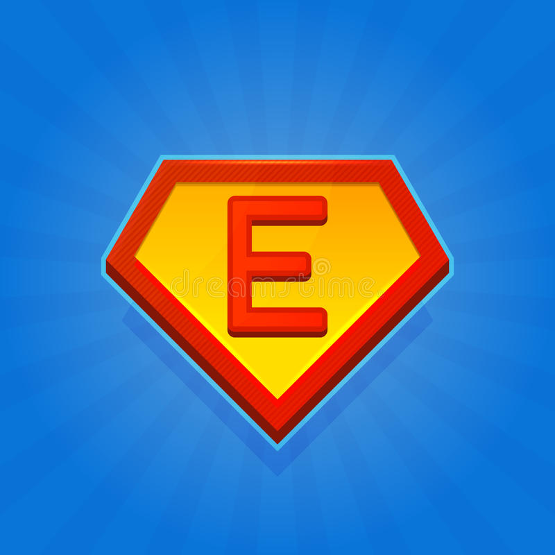 Superhero Logo Icon With Letter D On Blue Background  Vector Stock