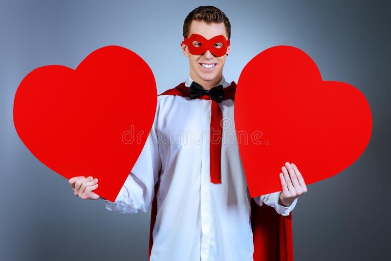 Superhero love stock photography