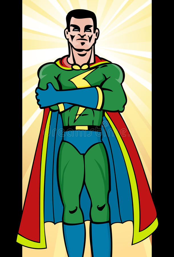 Superhero Man Royalty Free Stock Photography