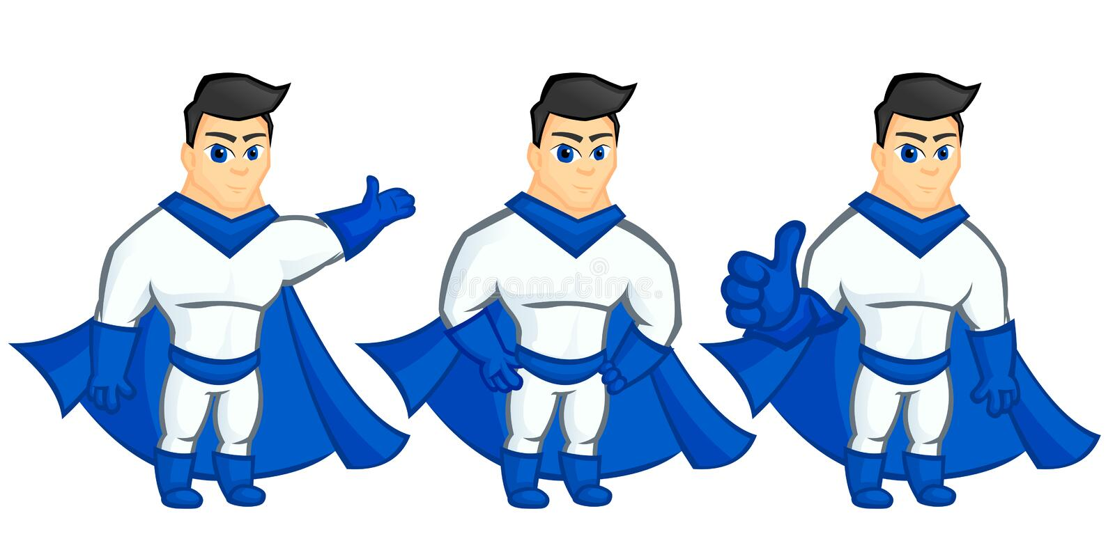 Superhero mascot royalty free stock images