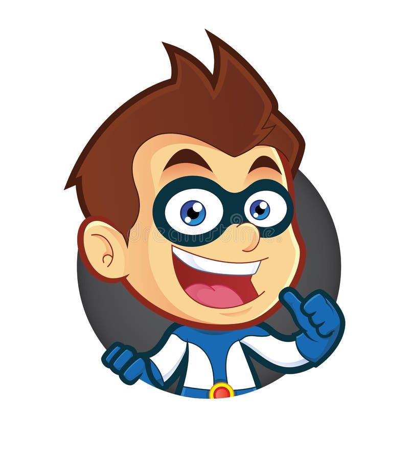 Superhero met Cirkelvorm vector illustratie