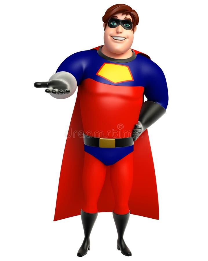 Superhero met Greep stelt royalty-vrije illustratie