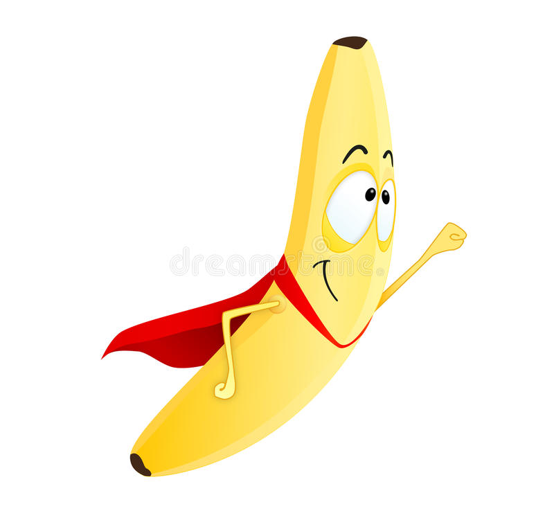 Superhero mignon de banane illustration libre de droits