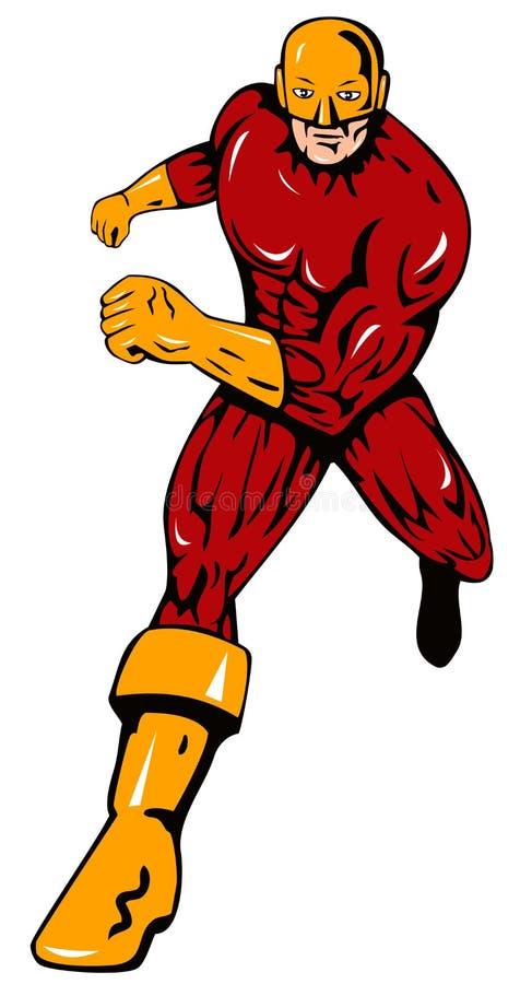 Superhero running vector illustration