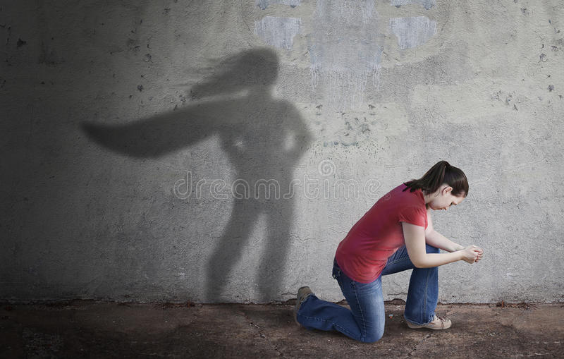 Superhero Shadow royalty free stock photography