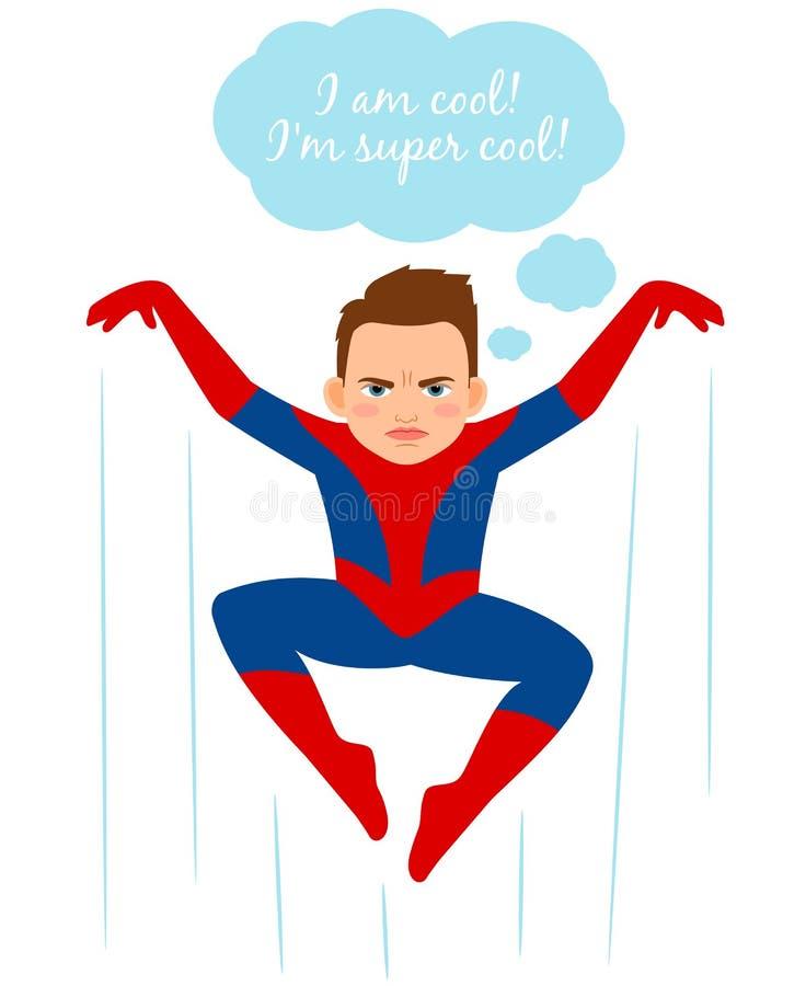 Superhero spider boy illustration royalty free illustration