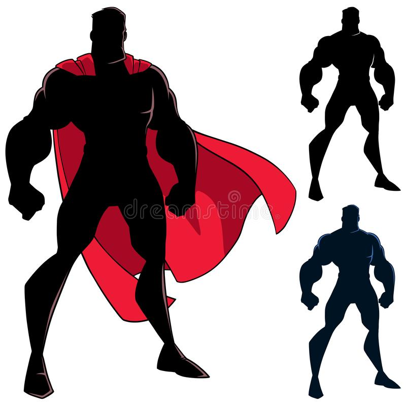 Free Superhero Standing Tall Silhouette Royalty Free Stock Photography - 134682157
