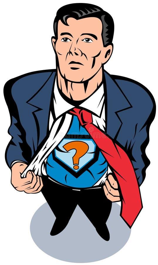 Superhero taking off shirt