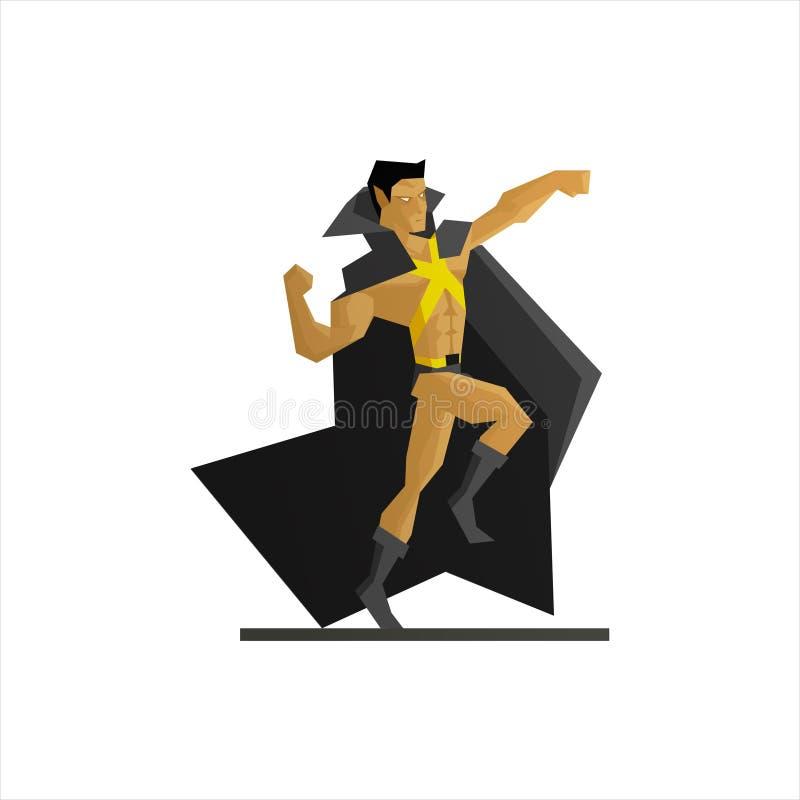 Superhero Vectorillustratie royalty-vrije illustratie