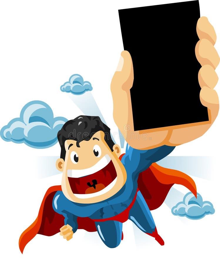 Superhero voor Reclamespots royalty-vrije illustratie