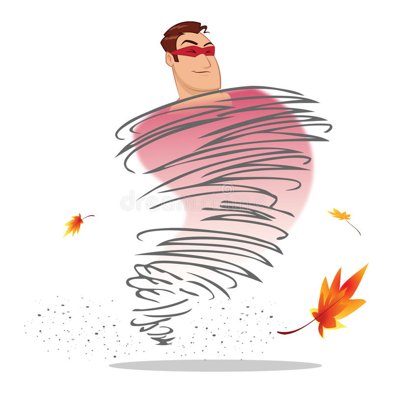 Download Superhero whirlwind stock illustration. Illustration of whirlwind - 25675441