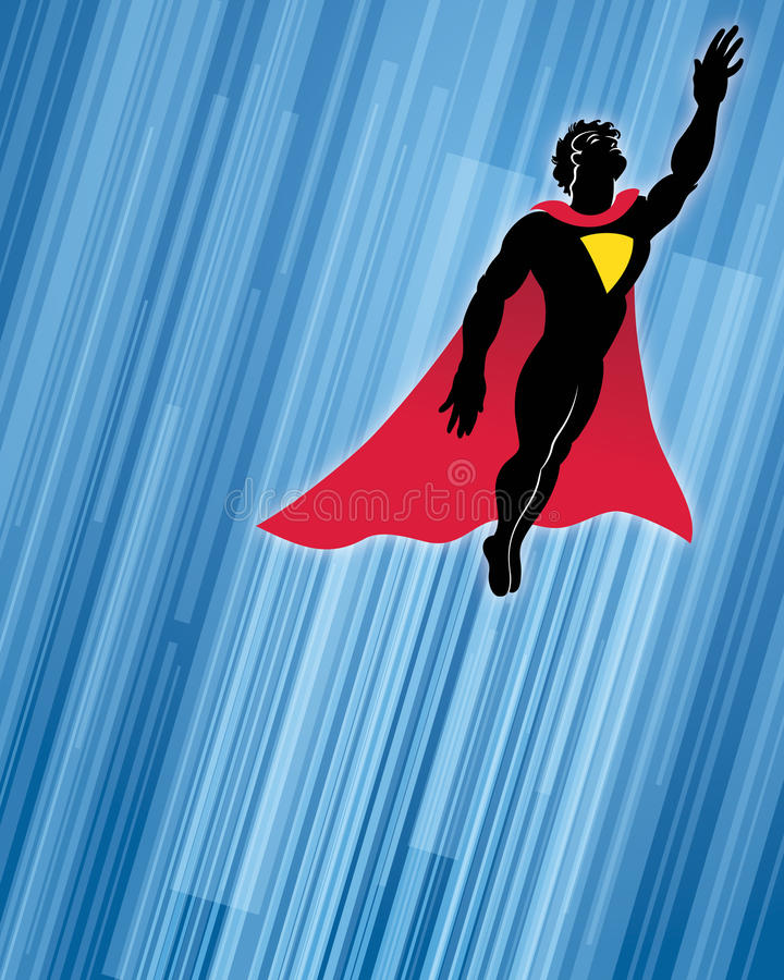 Superherobakgrund stock illustrationer
