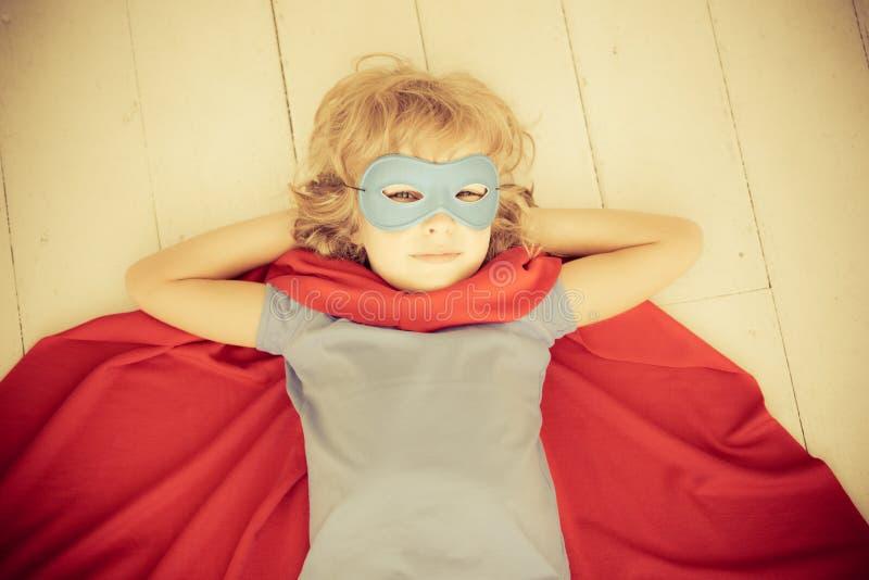 Superherobarn royaltyfri foto