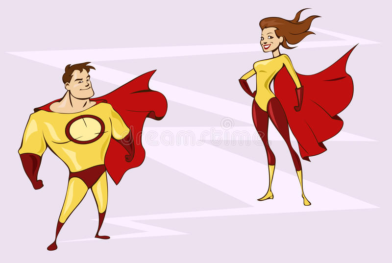 Superheroes Royalty Free Stock Images