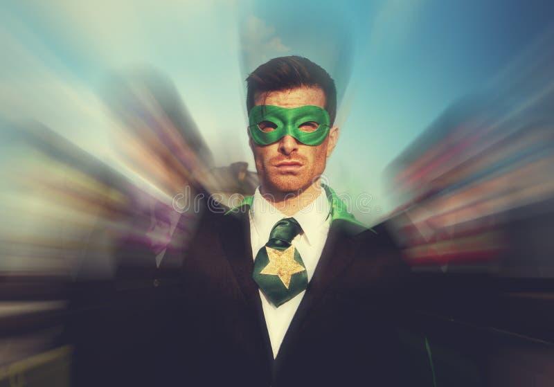 Superheroes Businessmen Pride Team Rescue Concept stock images