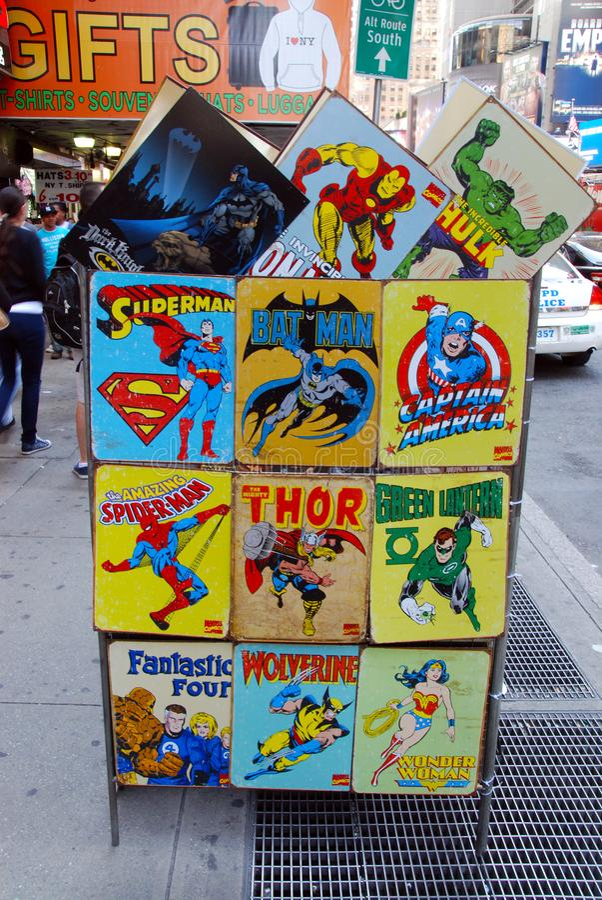 Superheroes royalty free stock image