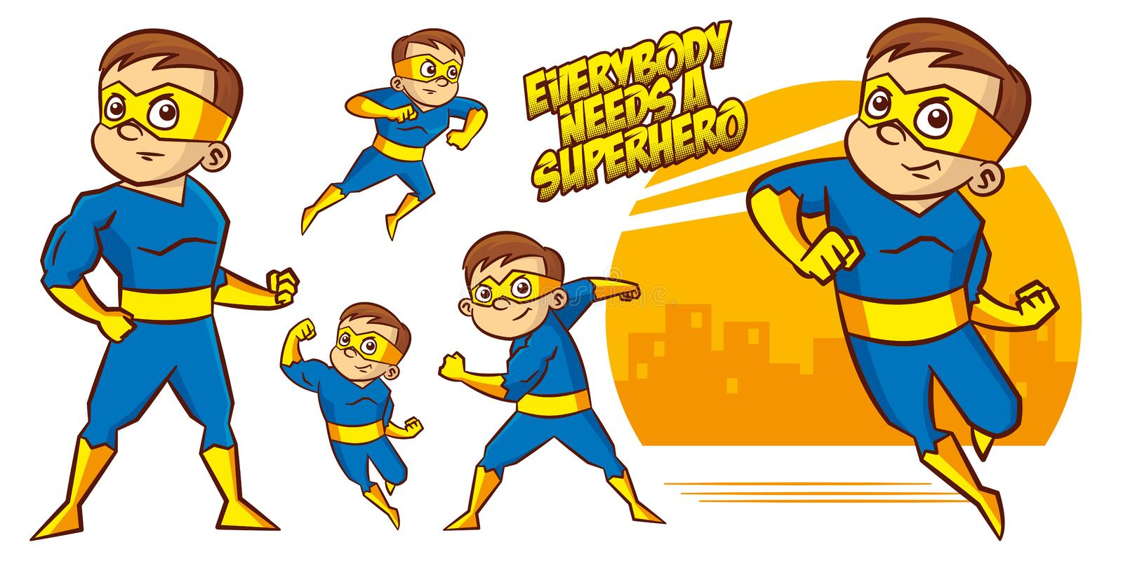 Superhero character Superheroes Set Vector illustration design. Superheroes Set Superhero character Vector illustration design stock illustration