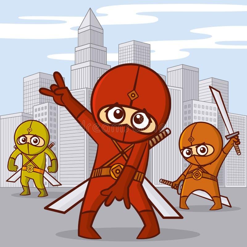 Superheroestecknad filmtecken royaltyfri illustrationer